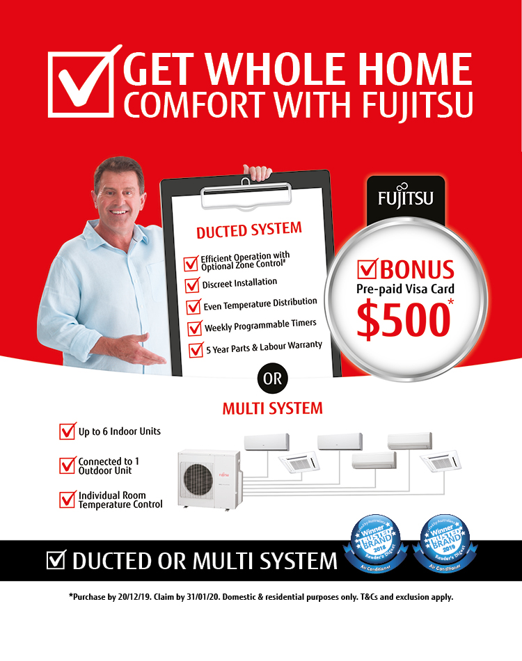 Fujitsu Ducted Air Conditioning Promotion