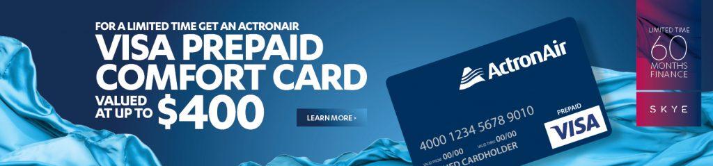 ActronAir Pre-paid Visa